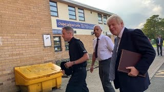 video: Whaley Bridge: Boris Johnson says dam is 'dodgy but stable' after arriving to support residents