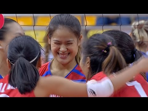 [Sport5]  Risa Sato with the kill and a million dollar smile! | 6th Asian Women's Volleyball Cup 2018