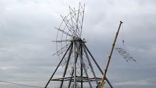 Как в Ярославле строили колесо обозрения
