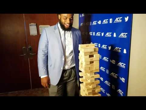 TigerNet.com - Christian Wilkins plays Jenga, talks Queen Latifah