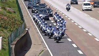 Queen Elizabeth II and Enormous Escort Entourage on a cleared Highway at Frankfurt | Kholo.pk