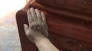 Án chân 12 gỗ hương