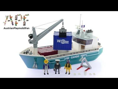 Vidéo PLAYMOBIL City Action 5253 : Cargo avec grue de chargement