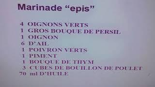 "Marinade ""épis"" / Mixture Offre Seasonings"