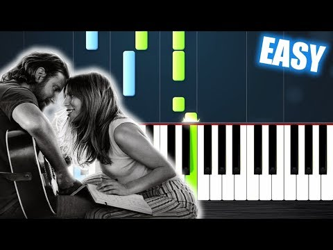 Lady Gaga, Bradley Cooper - Shallow (A Star Is Born) - EASY Piano Tutorial by PlutaX
