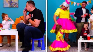 TIMESTAMPS:  1:40 A gift from dad 3:23 Science experiment with dad 4:06 Baby delivery 6:14 DIY cardboard kitchen play set  ---------------------------------------------------------------------------------------- Our Social Media:  Facebook: https://www.facebook.com/5min.crafts/ Instagram: https://www.instagram.com/5.min.crafts/ Twitter: https://twitter.com/5m_crafts  Subscribe to 5-Minute Crafts GIRLY: https://goo.gl/fWbJqz Subscribe to 5-Minute Crafts KIDS: https://goo.gl/PEuLVt Subscribe to 5-Minute Crafts MEN: http://bit.ly/2S69VUG  The Bright Side of Youtube: https://goo.gl/rQTJZz  ---------------------------------------------------------------------------------------- For more videos and articles visit: http://www.brightside.me  Music by Epidemic Sound: https://www.epidemicsound.com/