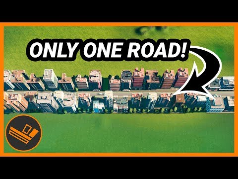 City with ONE Road! Cities: Skylines CHALLENGE