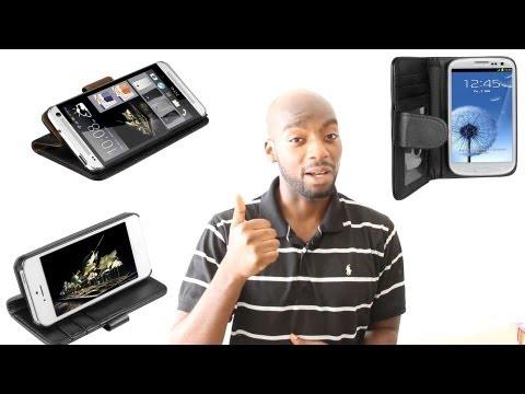 Coole Ledertasche fürs HTC One, iPhone 5 und Galaxy S4