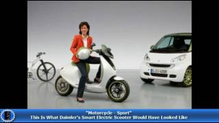 Motorcycle;This Is What Daimler's Smart Electric Scooter Would Have Looked Like!