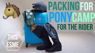 Packing For Pony Club Camp   For The Rider | This Esme