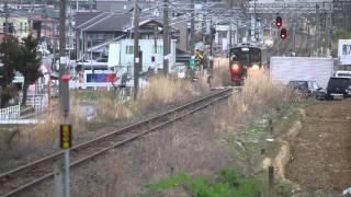719系改フルーティア「9272M福島観光キャンペーンオープニング号」喜久田~郡山20160402