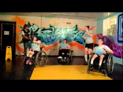 Screenshot of video: Exercise routine for teenagers with Spina Bifida-useful for all wheelchair children