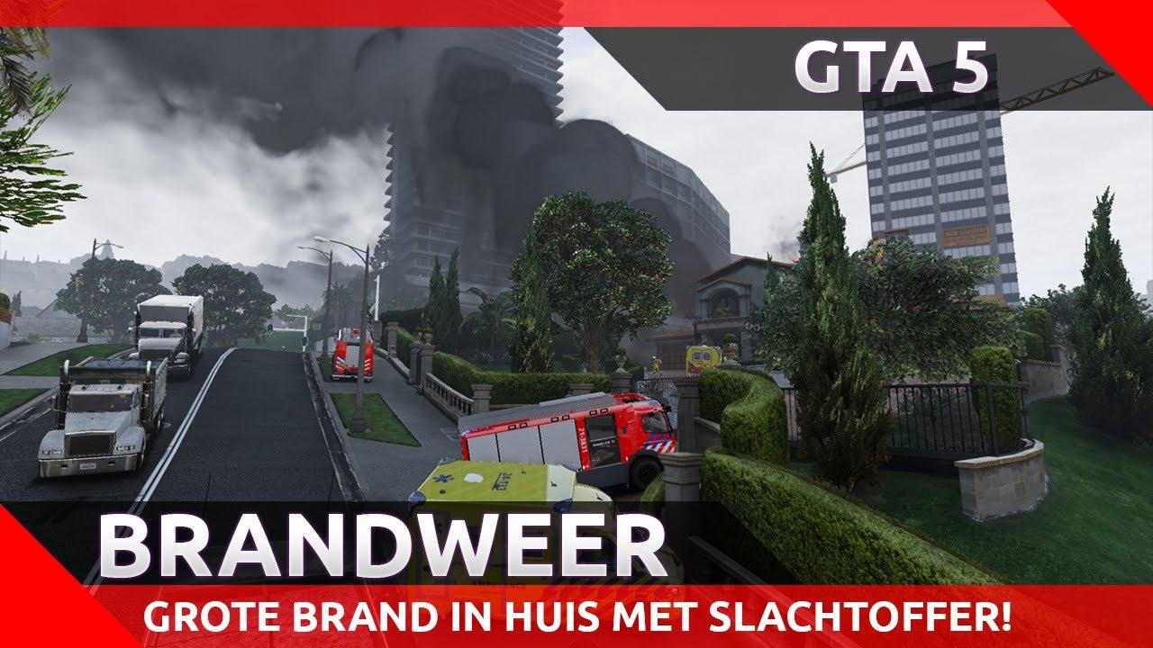GTA 5 Brandweer – Grote brand in een woning, grote buitenbrand en meer!