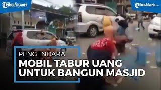 Viral Video Pengendara Mobil Sebar Uang di Jalan, Sejumlah Orang Langsung Mengambil