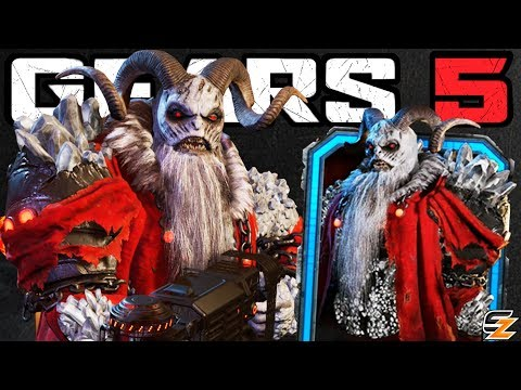 GEARS 5 Characters Gameplay - KRAMPUS SCION Character Skin Multiplayer Gameplay!
