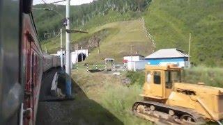 バイカル湖半を走るシベリア鉄道1