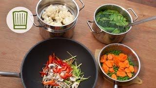 Gemüse schonend garen #chefkoch