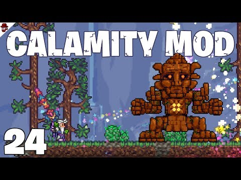 Terraria # 24 Biome Blade vs Ark of Ancients - Calamity Mod Let's Play