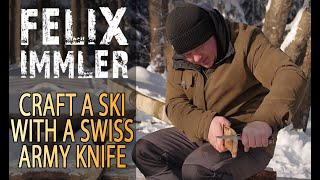 How to carve a Ski with a Swiss Army Knife