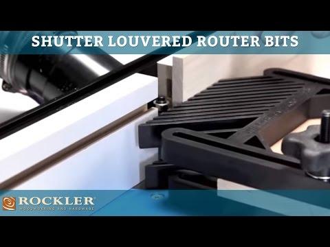 Rockler Shutter Louver Router Bits 1 2 Shank