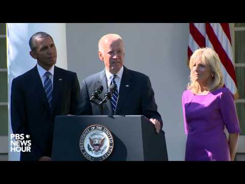 Watch Vice President Biden's decision not to run for president