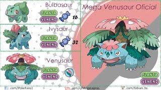 Pokémon - Mega Evoluciones Primera Generación (FANART y OFICIALES)