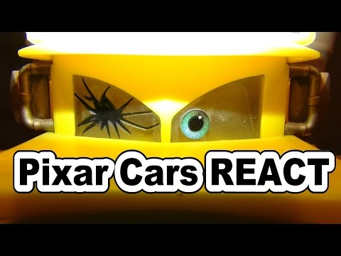 Pixar Cars REACT To The Screaming Banshee With Lightning McQueen Mater Doc And Lizzie In Radiator Sp