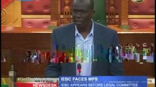 IEBC Commissioners forced out of parliament by Samuel Chepkonga