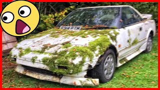 In 25 years of parking, a fantastic Abandoned Japanese sports car has turned into a flower bed!