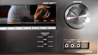 Onkyo TX-SR444 7.1 Channel A/V Receiver - Unboxing plus sound test