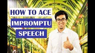 How to Ace Impromptu Speech   Learn Spoken English   Public Speaking   Wabs Talk
