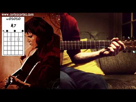 """How To Play """"CAJUN MOON"""" by J.J Cale   Acoustic Guitar Tutorial on a MIJ Daion Mark Mugen I"""