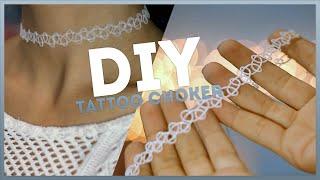 Смотреть онлайн Как сделать украшение для шеи в виде тату
