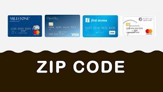 What is Credit Card ZIP code?
