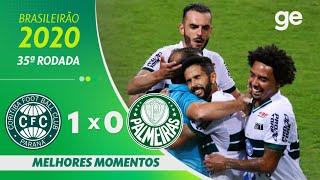 CORITIBA 1 X 0 PALMEIRAS | MELHORES MOMENTOS | 35ª RODADA BRASILEIRÃO 2020 | ge.globo