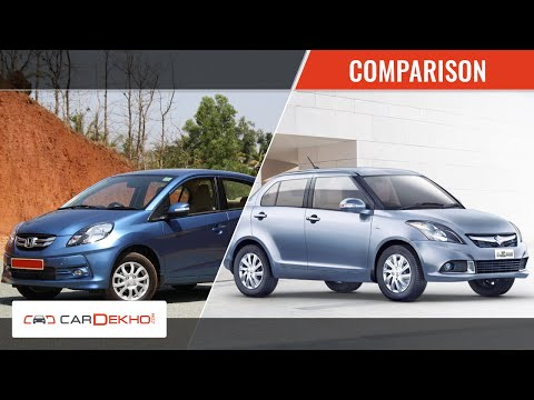 Honda Amaze Vs Maruti Suzuki Swift Dzire | CarDekho.com