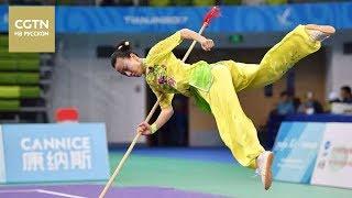 Смотрите выступление с копьем чемпионки Китая по ушу-таолу – Кан Вэньцун[Age0+]
