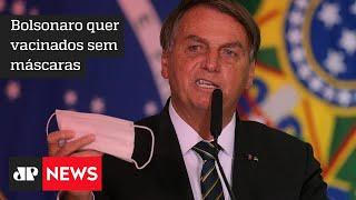 Bolsonaro alega que já é possível flexibilizar o uso de máscaras