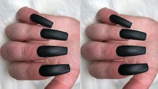 Long Sleek Black Nails
