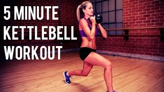 5 minute Kettlebell Workout for Fat Burning and Toning by BodyFit By Amy