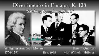 Mozart: Divertimento in F major, BarylliQ & Hübner (1955) モーツァルト ディヴェルティメント(K138) バリリ四重奏団