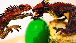 ДИНОЗАВРЫ. Война Динозавров с Драконами за огромное Яйцо. Видео про Динозавров для детей. Игрушки ТВ