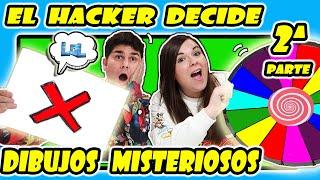 ROTULADORES CHALLENGE El HACKER decide los DIBUJOS MISTERIOSOS y la ruleta decide con qué coloreamos
