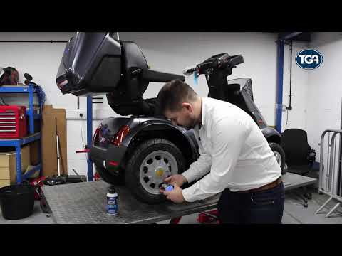 TGA: award-winning mobility scooter puncture sealant YouTube video thumbnail
