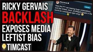 Ricky Gervais BACKLASH Exposes The Media's Leftist Bias, They're Calling Him Right Wing
