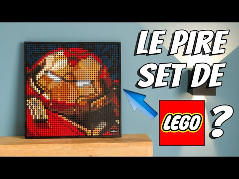 Vidéo LEGO Art 31199 : Iron Man de Marvel Studios