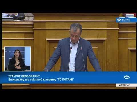 """Σ.Θεοδωράκης(Επικεφαλής """"Ποτάμι"""")(Προϋπολογισμός 2019 )(18/12/2018)"""