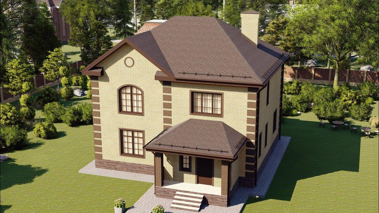 Проект дома из блока в 2 этажа — Строительная компания Апрель