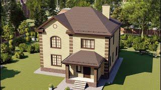 Проект дома 191-A, Площадь дома: 191 м2, Размер дома:  11,9x17,2 м