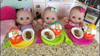 Куклы Пупсики Кормим Полезные Овощи Яйца Сюрпризы Играем  Пылесос Игрушка